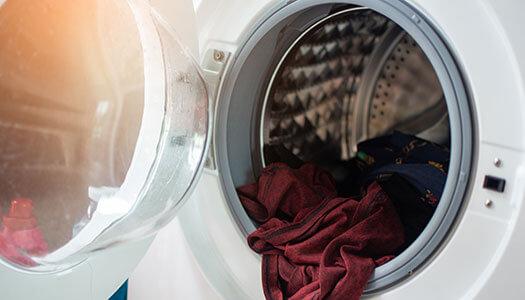Laundry inside of dryer.