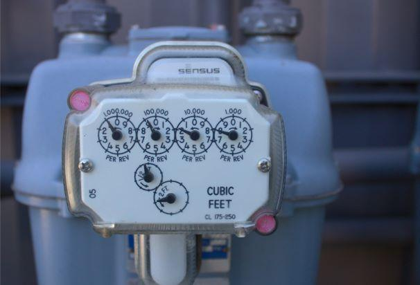 Picture of a natural gas meter.