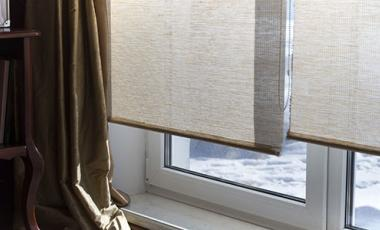 Window coverings during the winter.