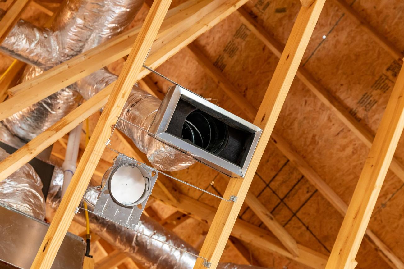 Air conditioner ductwork in a home