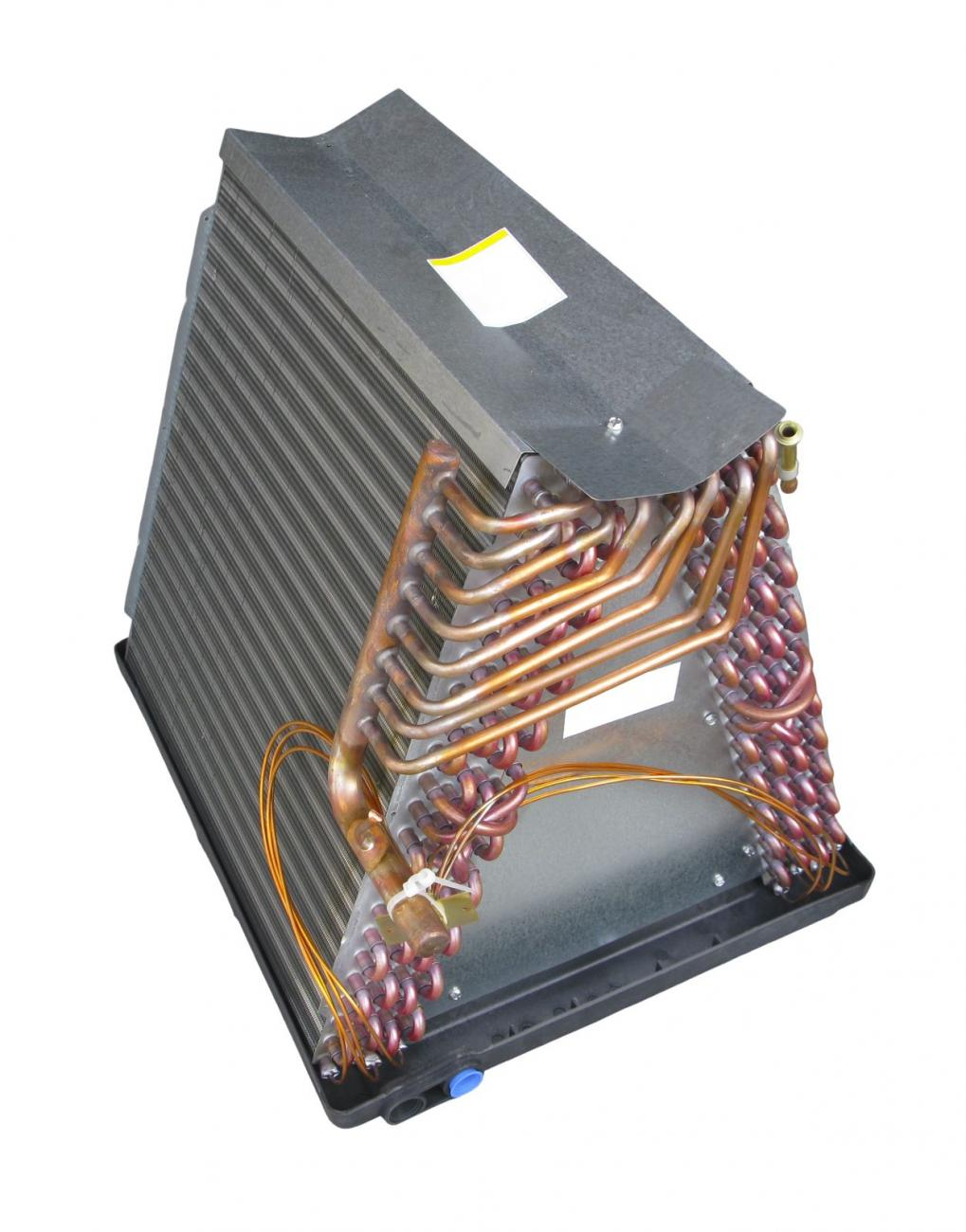 Evaporator coils from a central air conditioning system.