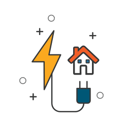 Residential electricity illustration