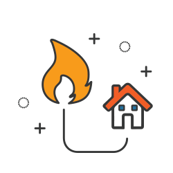 Natural Gas residential icon
