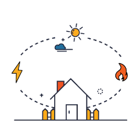 Home and environment icon